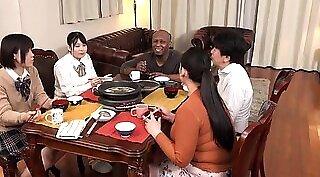 Amateur interracial wife giving handjob