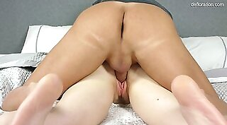Super hot pussy babe fucked by worker for the first time