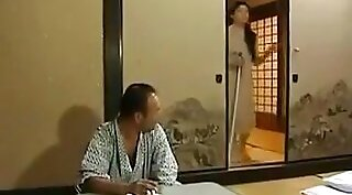 Cheating curvy Japanese wife in sofa gets fucked