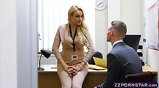 Busty teacher Valsea provocateur fucked at office
