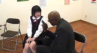 Japanese student cumming facial