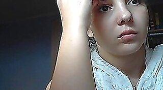 Slutty Kara shows her tits on webcam
