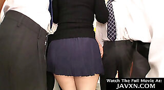 Attractive Japanese slut gets it in the asshole