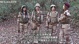 babe in a military uniform fucking women