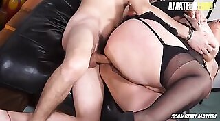BBW gives anal on self he find young pov mature