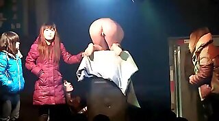 Chinese wife round butt exposed