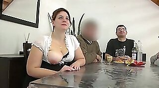 Chubby french wife twerking and gets pipe fucked